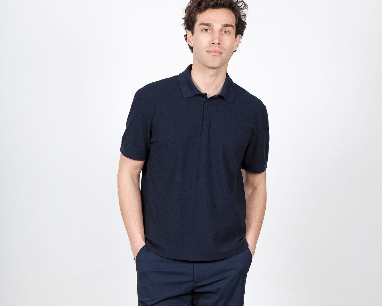 The Polo Shirt || Navy | Organic Cotton
