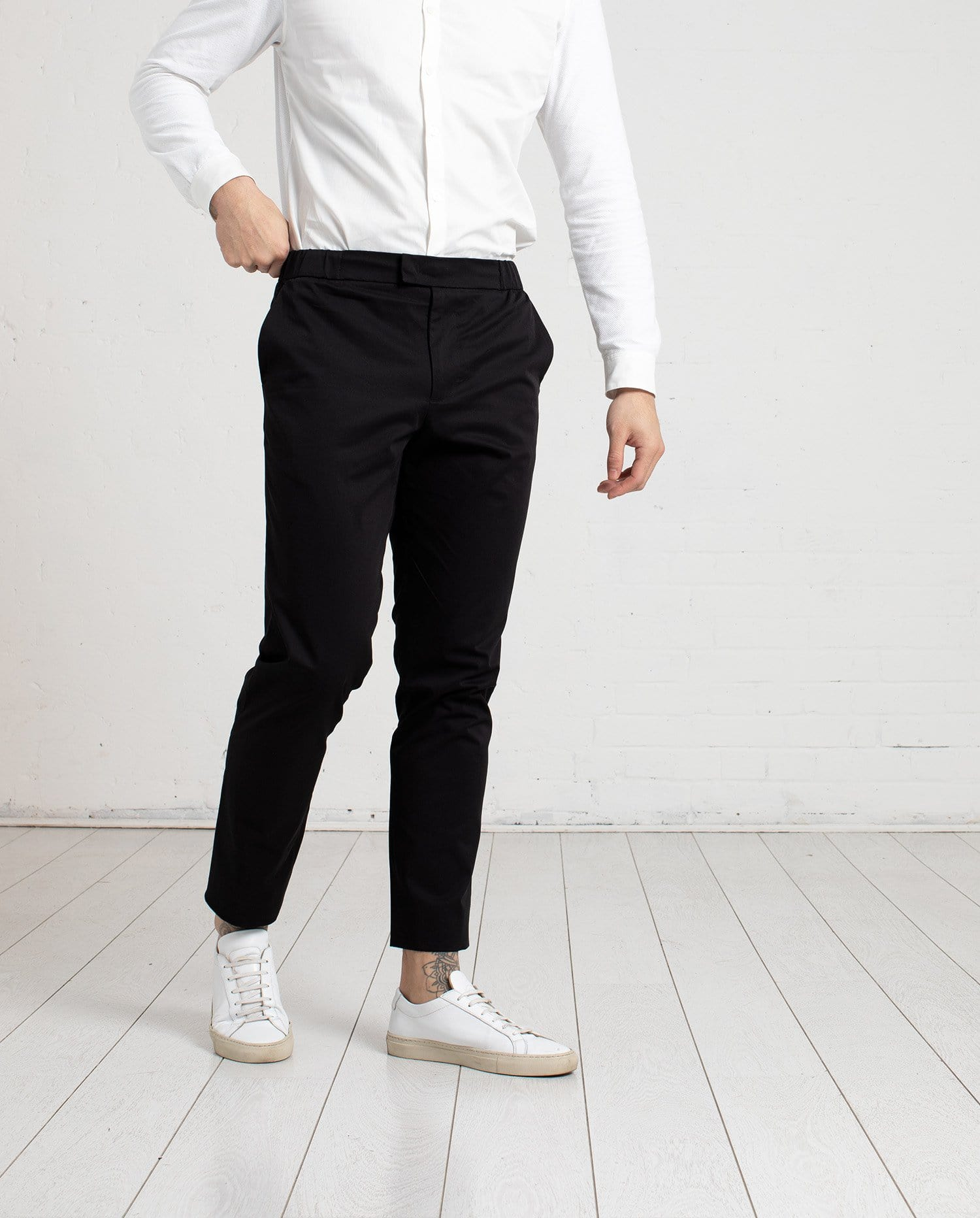 The 24 Trouser || Black | Stretch Cotton