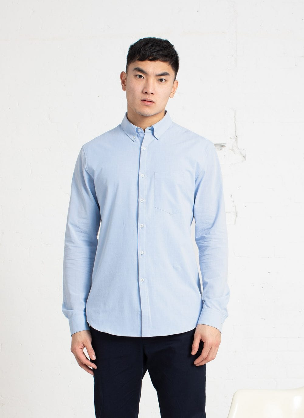 The All Day Shirt || Light-Blue | Collared