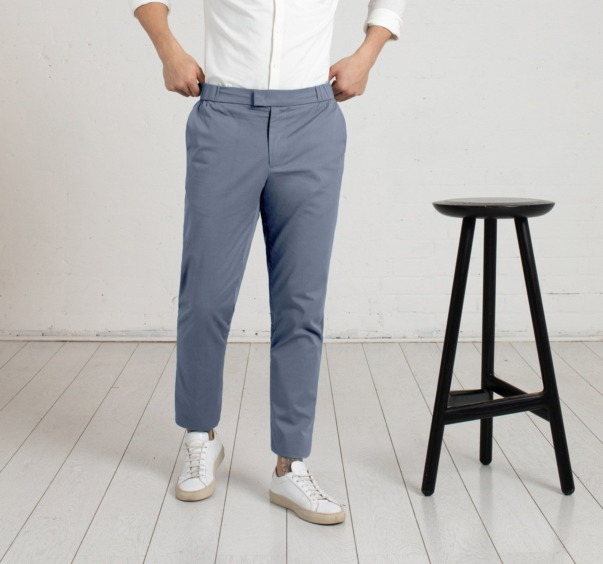 The 24 Trouser || Steel Blue | Stretch Cotton
