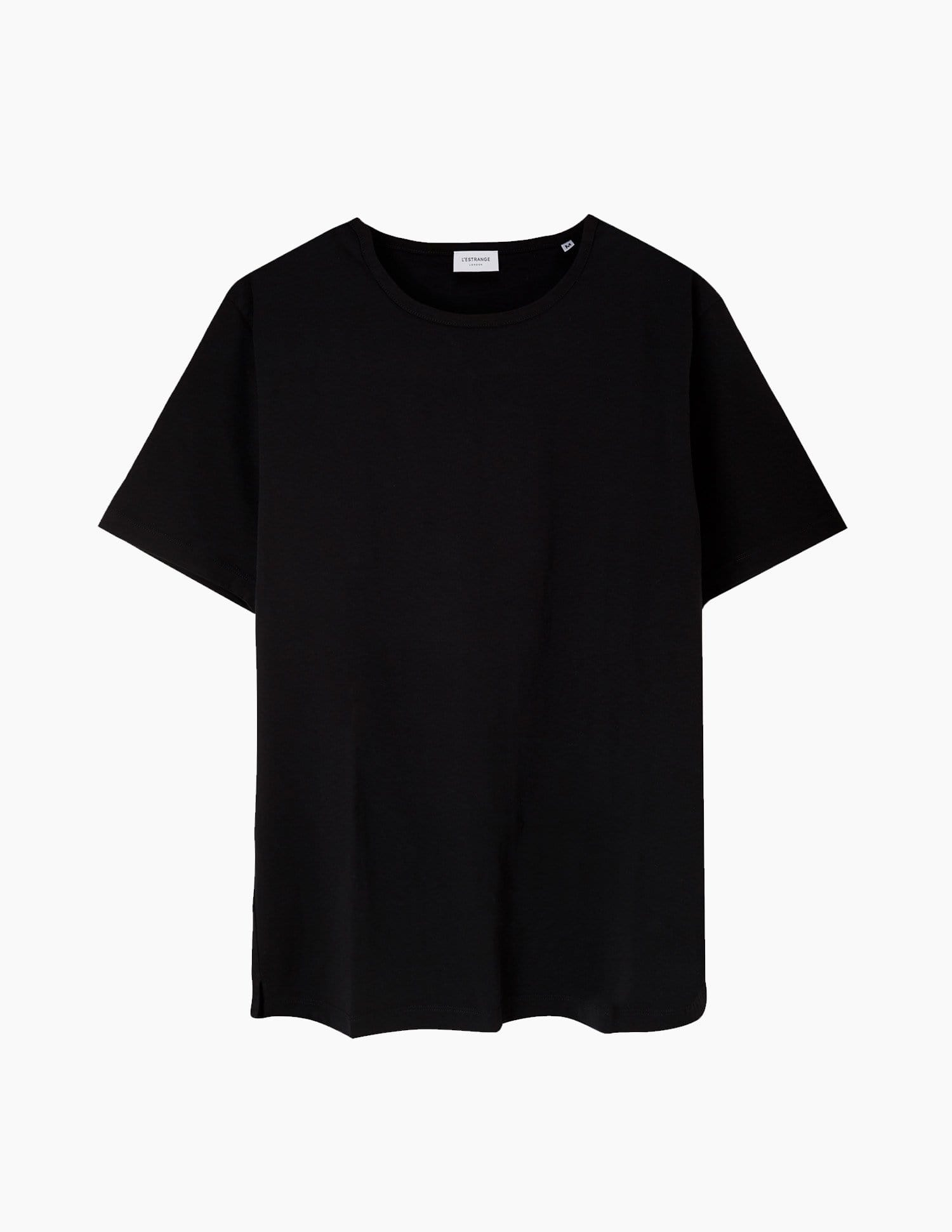 The Tailored Tee || Black | Supima Cotton