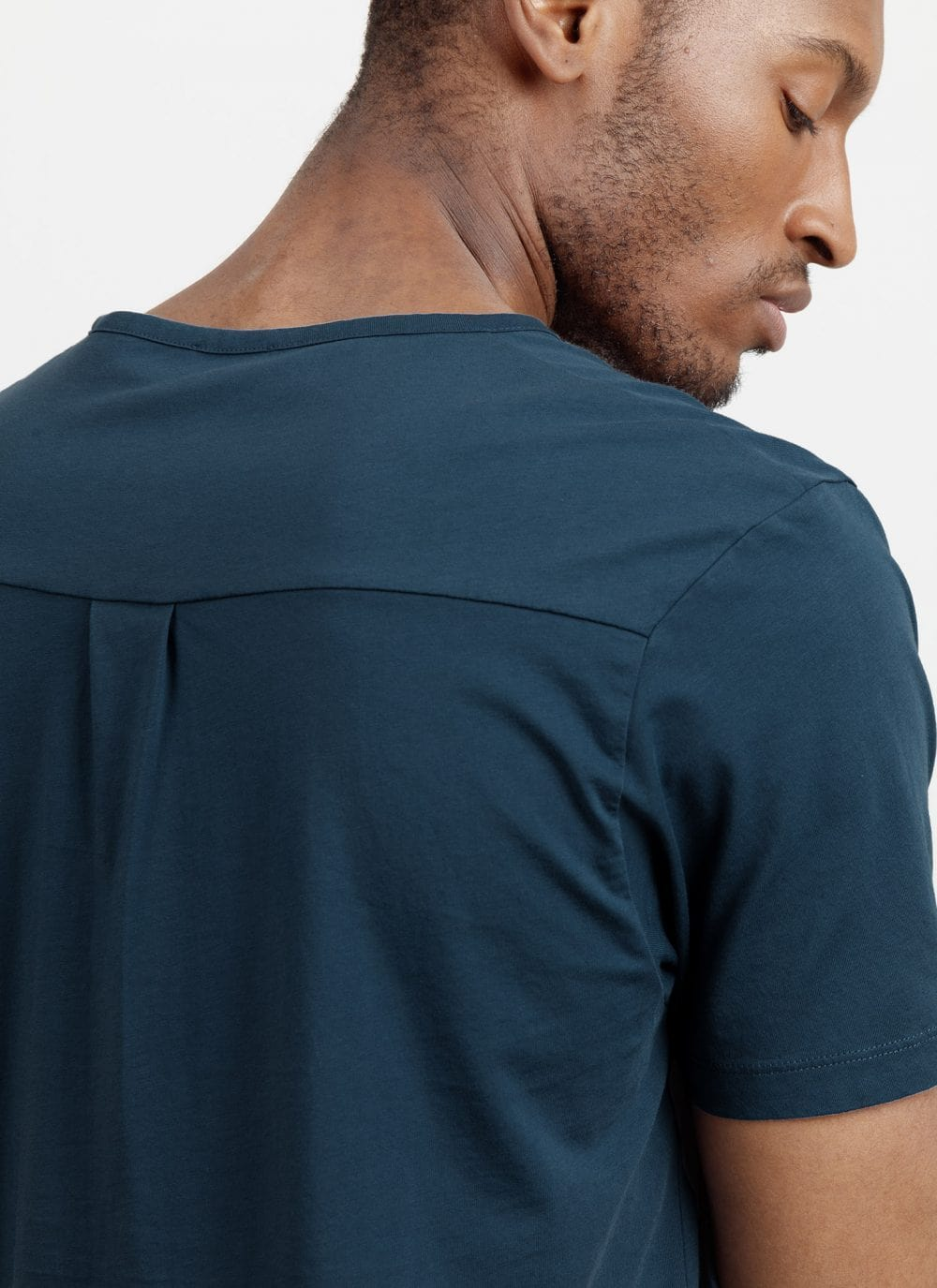 The Tailored Tee || Petrol-Blue | Supima Cotton