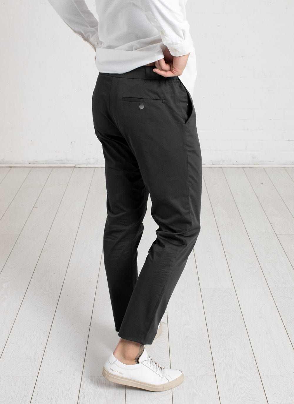 The 24 Trouser || Slate-Grey | Stretch Cotton