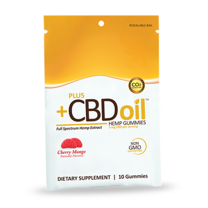 CBD Oil Hemp Gummies - Cherry Mango (10 Gummies)