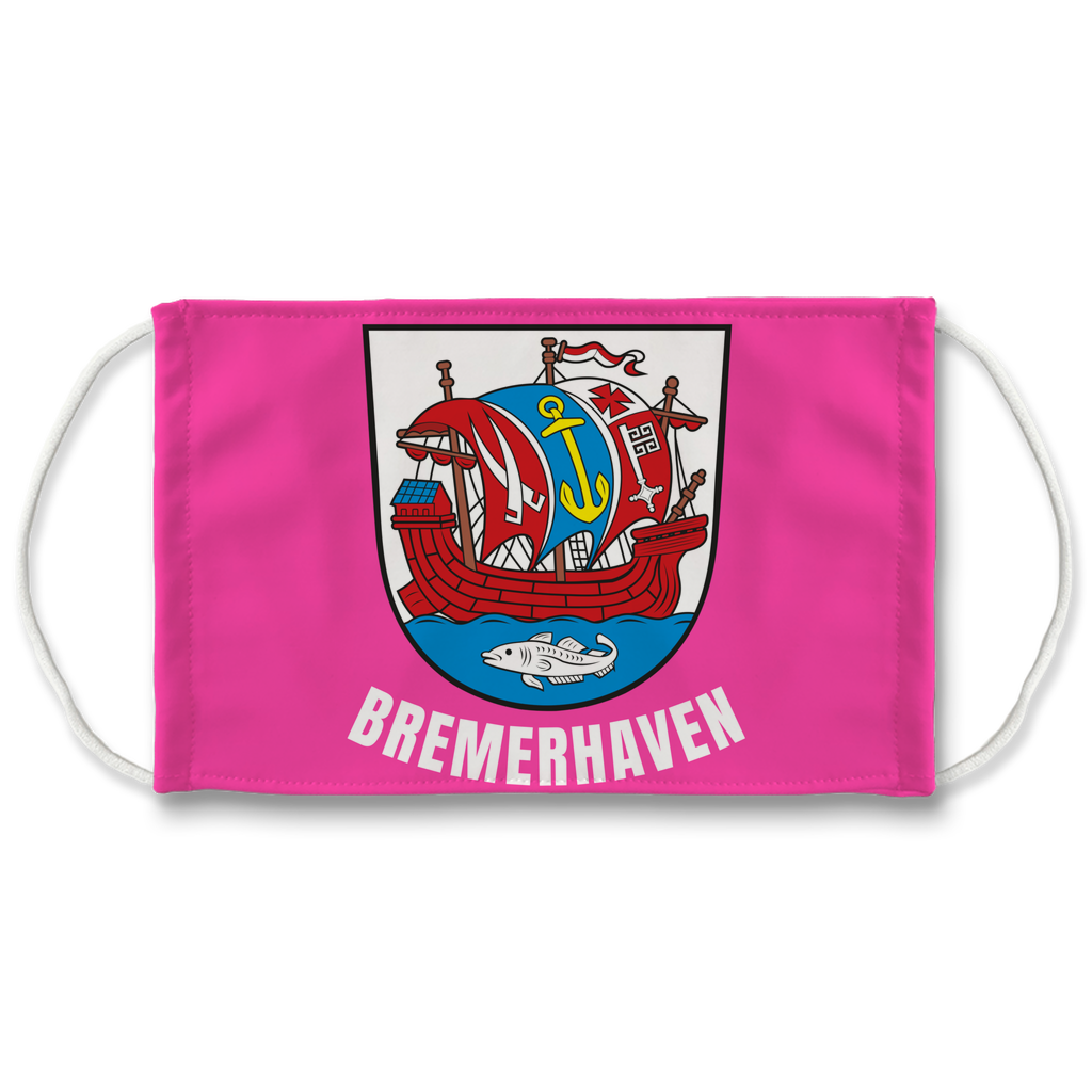 Bremerhaven Wappen (Pink) Sublimation Face Mask