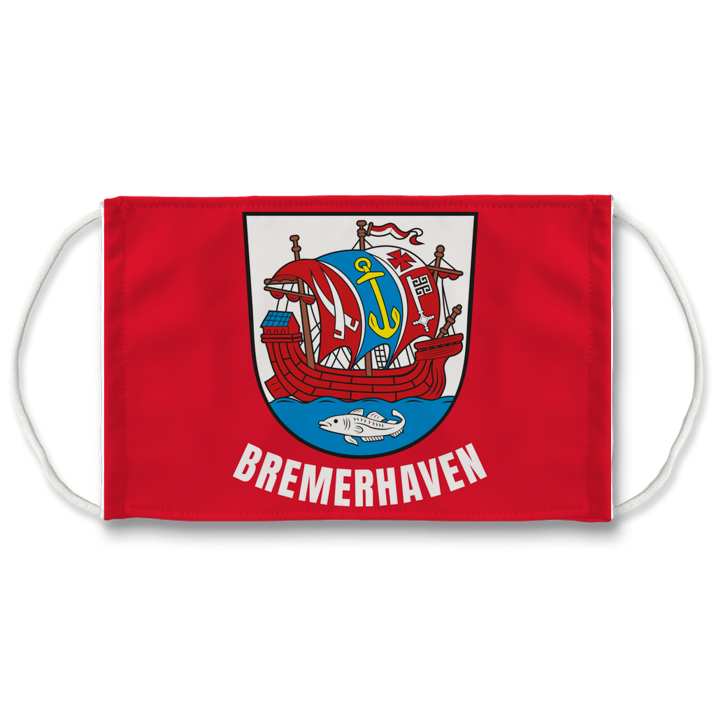 Bremerhaven Wappen (schwarz) Sublimation Face Mask