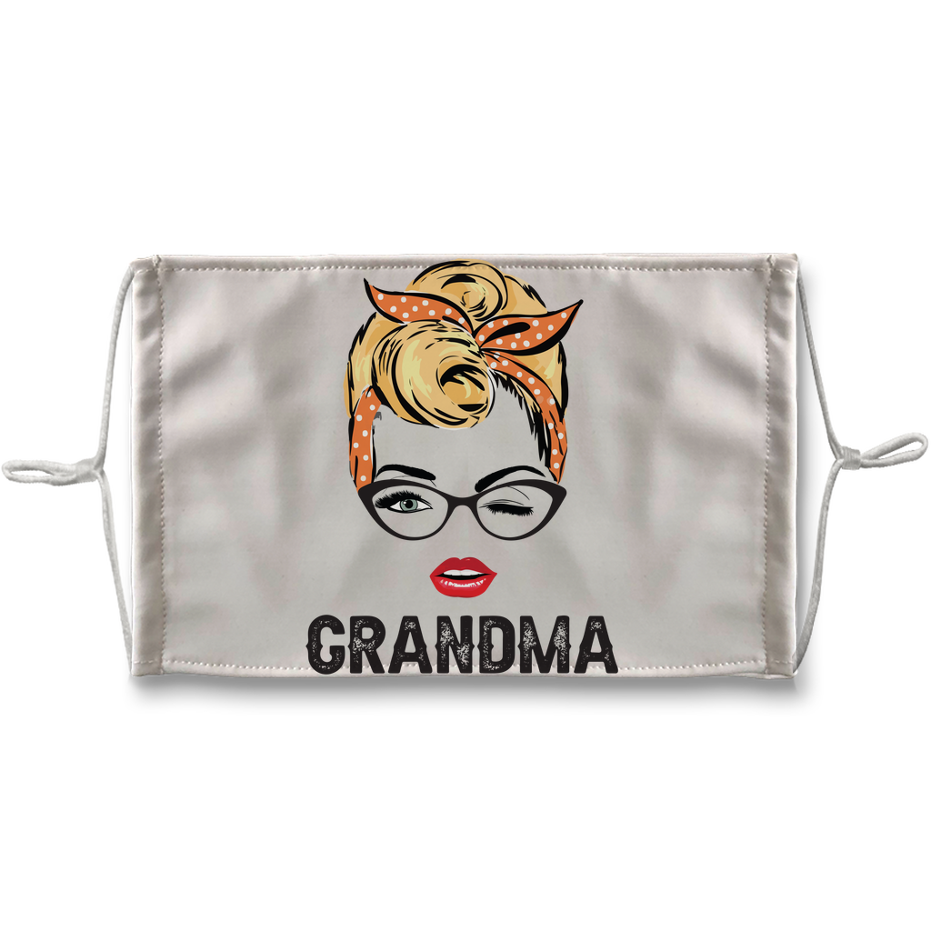 Grandma Sublimation Face Mask + 10 Replacement Filters