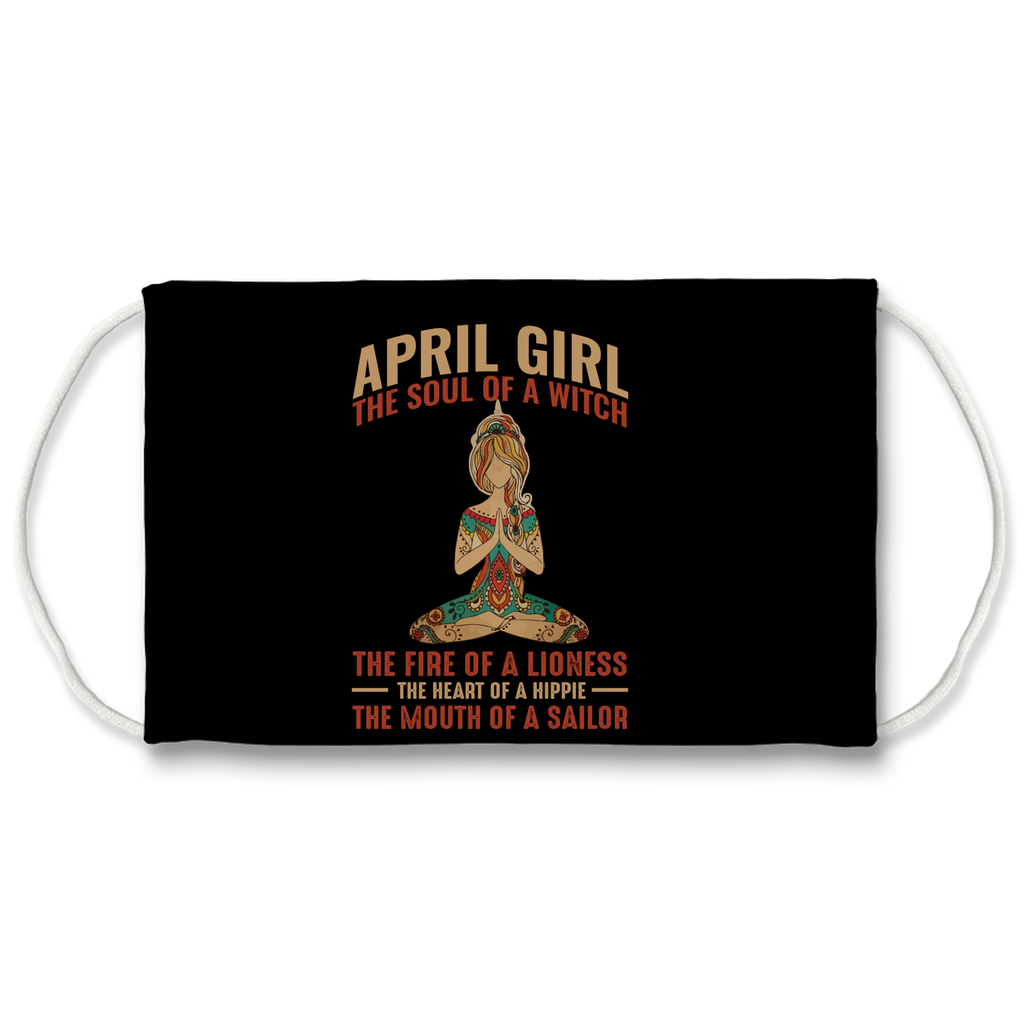 April Girl Sublimation Face Mask