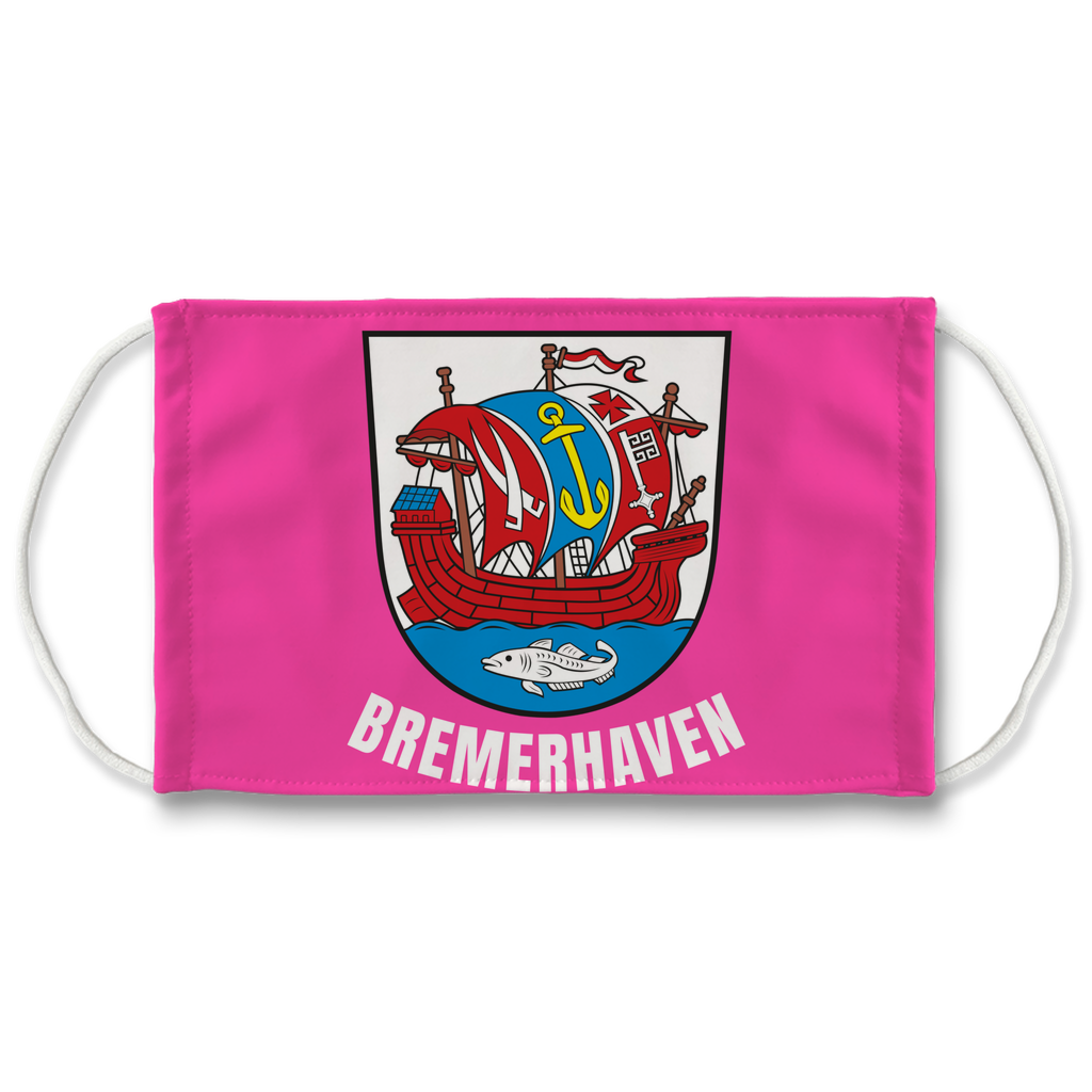 Bremerhaven Wappen (Pink) Sublimation Face Mask + 10 Replacement Filters