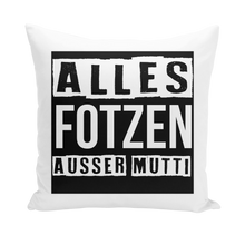 Laden Sie das Bild in den Galerie-Viewer, alles fotzen ausser mutti Throw Pillows