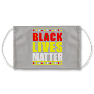 Black Lives Matter (grau) Sublimation Face Mask + 10 Replacement Filters
