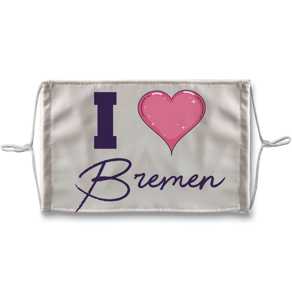 I love Bremen Sublimation Face Mask + 10 Replacement Filters