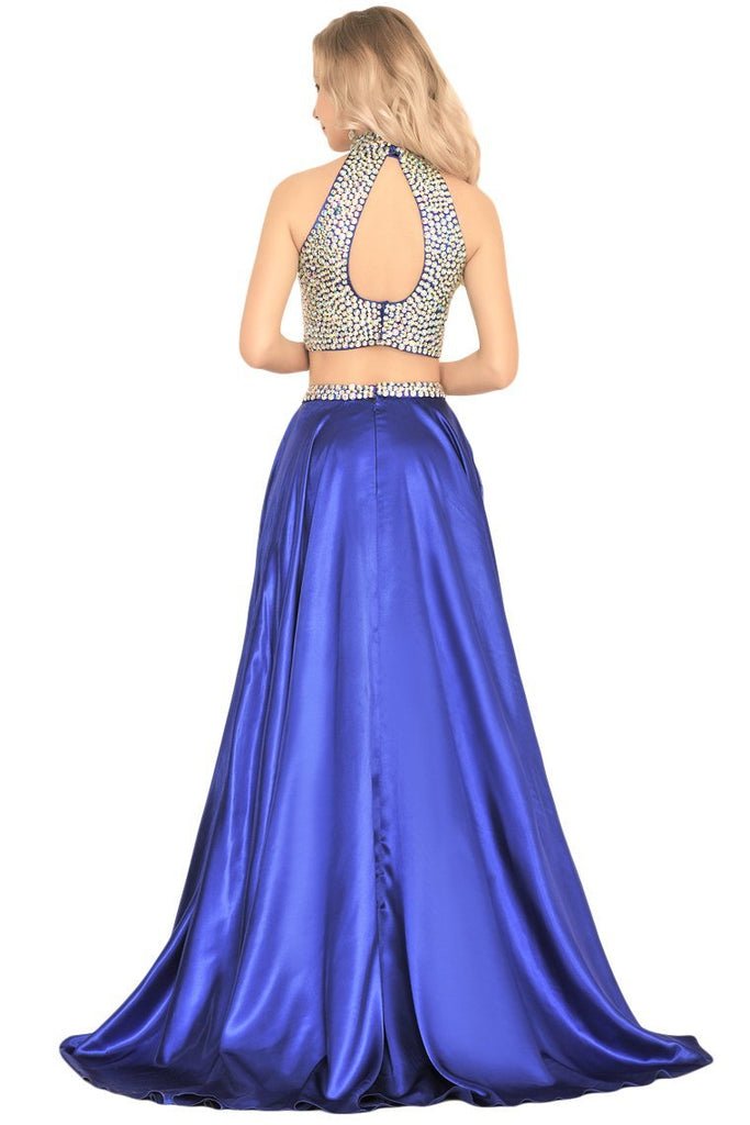 2019 Prom Dresses A Line Two Pieces With Rhinestones