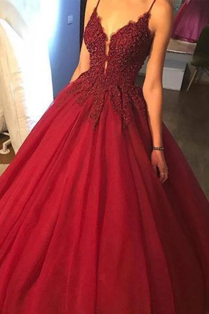Prom Dresses A Line Tulle With Beading