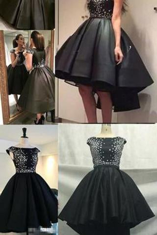 Cute Sparkly Black Prom Dress For Teens Homecoming Dress Sweet 16 Gowns