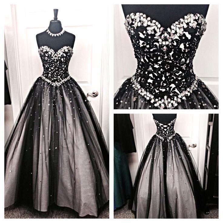 New Design Sequin Shiny Long Prom Dresses A-neck Sweetheart Prom Dresses