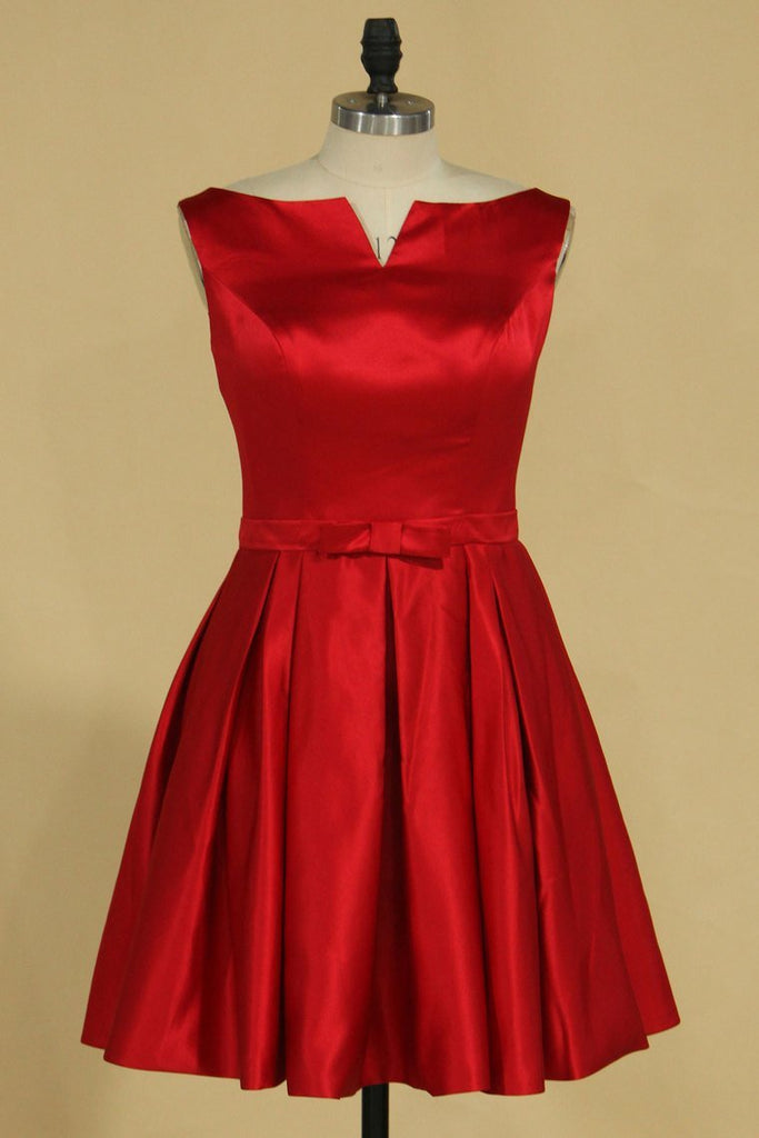 Bridesmaid Dresses A Line Satin Knee Length New Arrival
