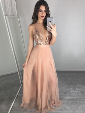 Sexy Charming Long Prom Dress Sleeveless Prom Dress Long Evening Dress Prom Dresses