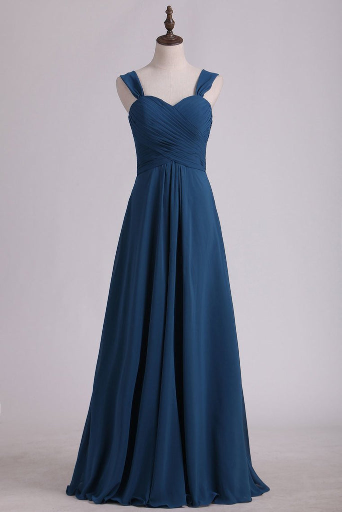 New Arrival Sweetheart Bridesmaid Dresses A Line Chiffon With Ruffles