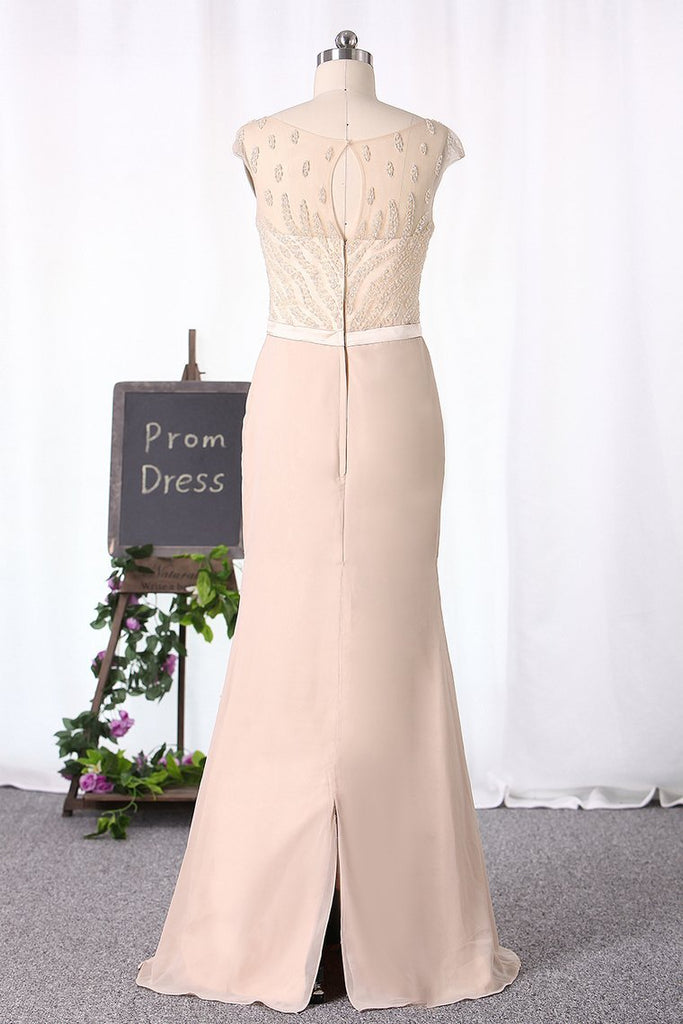 2019 Sheath/Column Mother Of The Bride Dresses Chiffon
