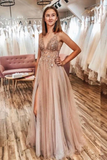 Sexy Spaghetti Straps Floor Length Beading Prom Dress With Rhinestone Long Evening STBPLRDFBQB