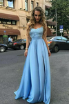 2019 Prom Dresses A Line Sweetheart Satin With Applique And