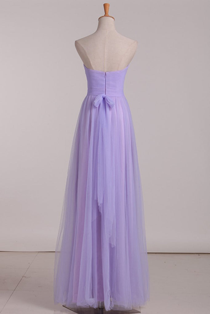 Chiffon With Ruffles Bridesmaid Dresses Sweetheart Floor Length A Line