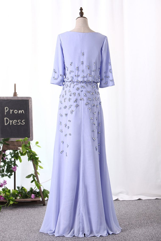 2019 Mid-Length Sleeves Scoop Mother Of The Bride Dresses A Line With