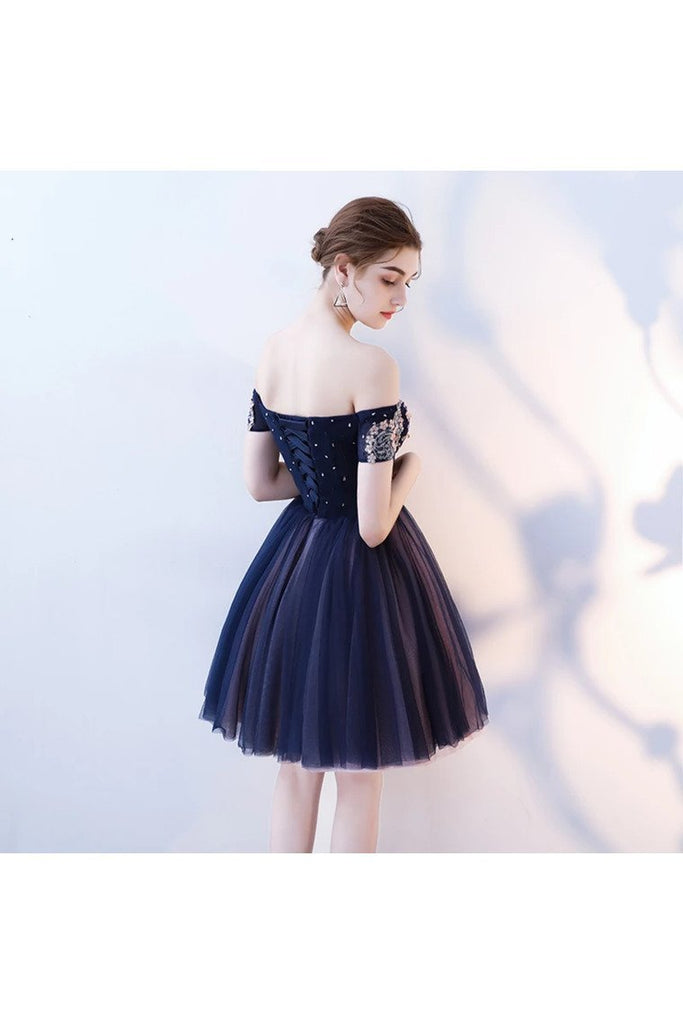 A Line Appliques Homecoming Dresses Short/Mini Off The