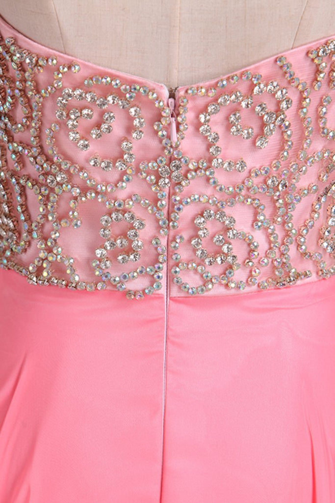2019 Sweetheart Prom Dresses A Line Chiffon With Beading