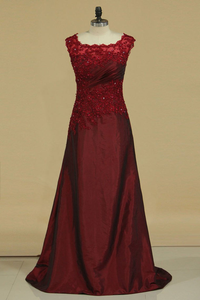 2019 Chic Mother Of The Bride Dress Scoop Sheath Burgundy