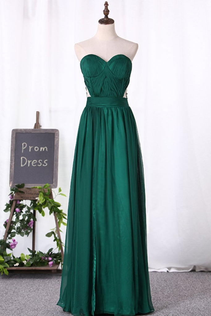 2019 Chiffon Sweetheart With Applique And Ruffles A Line Prom