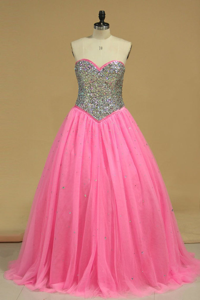 2019 Quinceanera Dresses Ball Gown Sweetheart With Beading