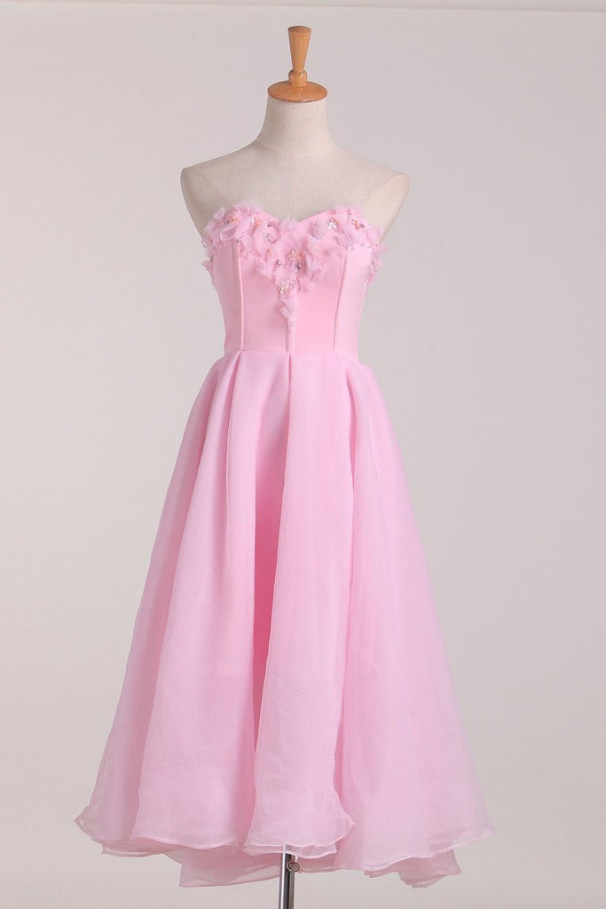 2019 Homecoming Dresses A Line Sweetheart Chiffon With Beading
