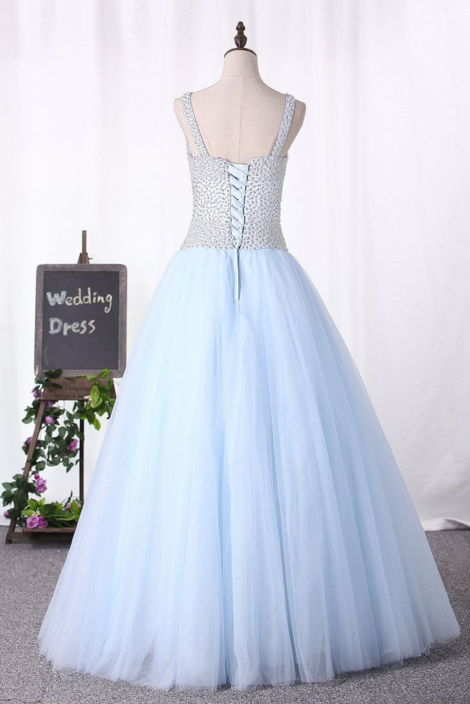 2019 Scoop Ball Gown Beaded Bodice Quinceanera