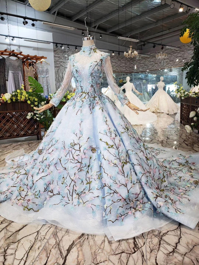 light blue wedding dress with sleeves, OFF 20,Buy