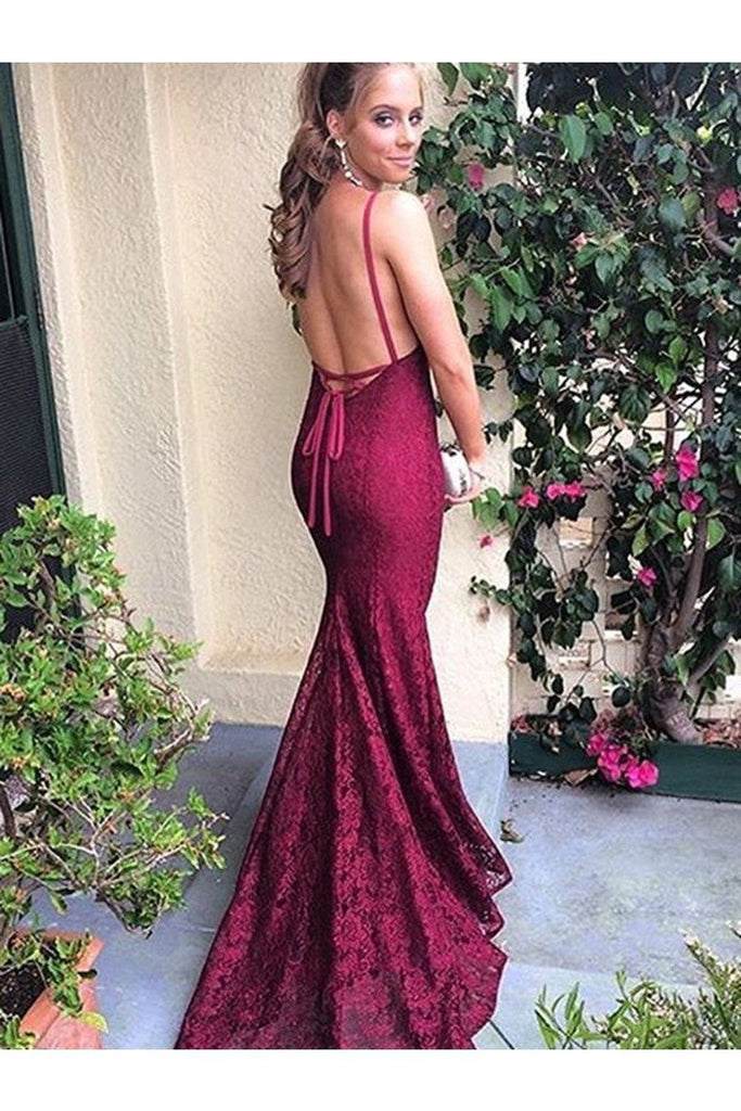 Trumpet/Mermaid Sleeveless V-Neck Sweep/Brush Train Lace