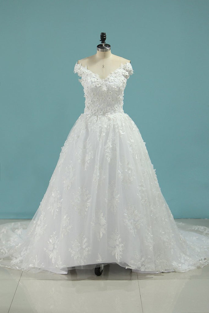 2019 Wedding Dresses Ball Gown Off The Shoulder Tulle With