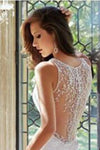 Chiffon V-Neck New Arrival Sexy A-Line White Custom Wedding Dresses
