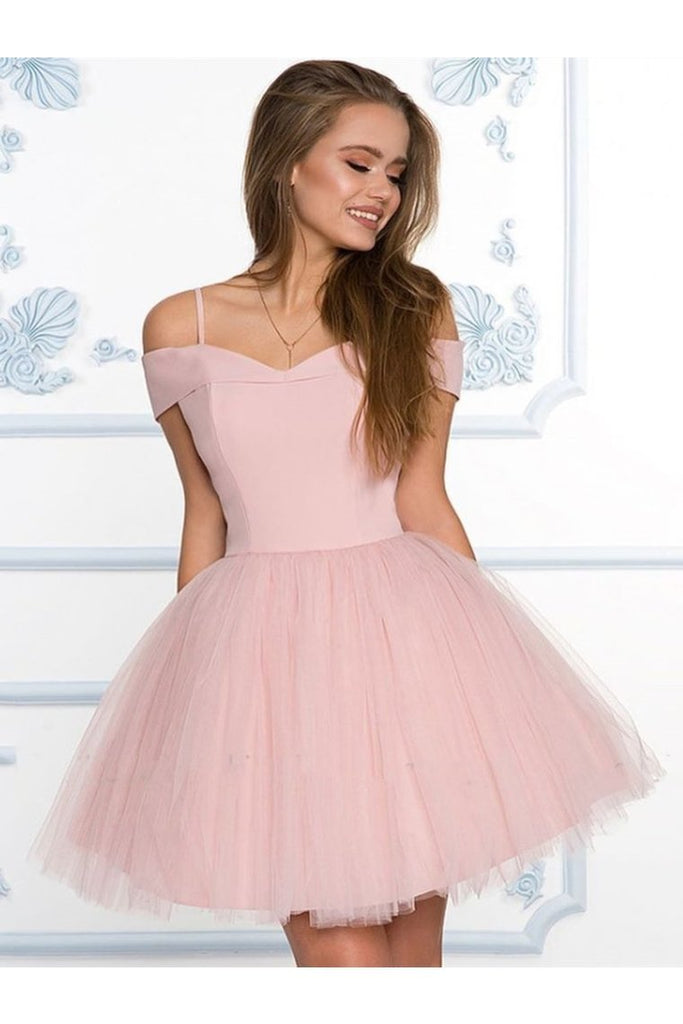 Off The Shoulder Short Formal Graduation Homecoming Dresses A