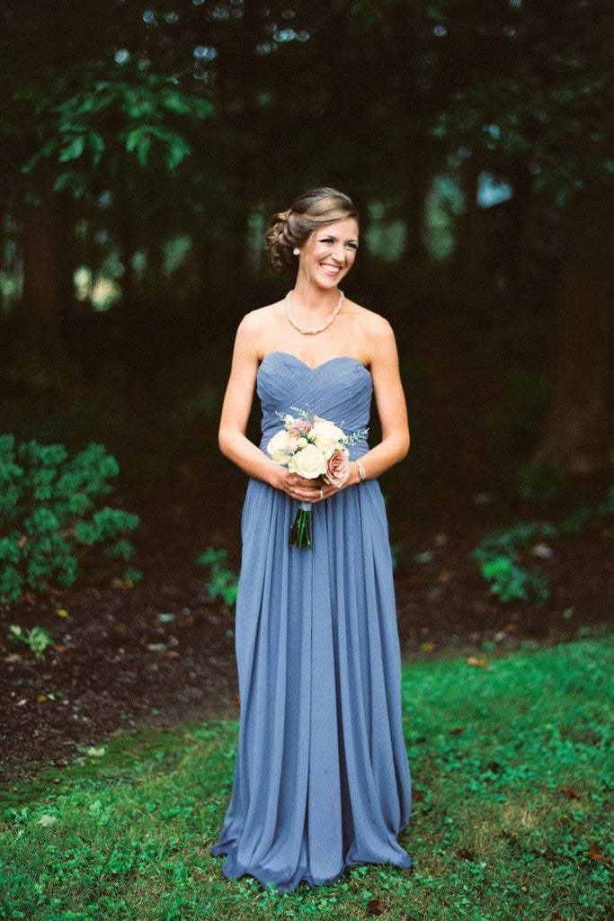 2019 Sweetheart Bridesmaid Dresses A Line Ruched