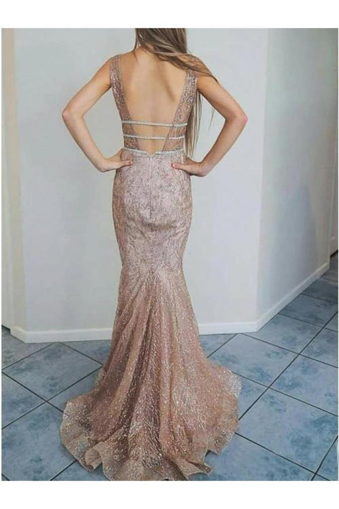 Spaghetti Straps Mermaid Ivory Lace Long Cheap Prom