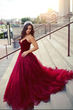 Gorgeous Engagement Sweetheart Velvet Tulle Ball Gown Burgundy Quinceneara Dresses