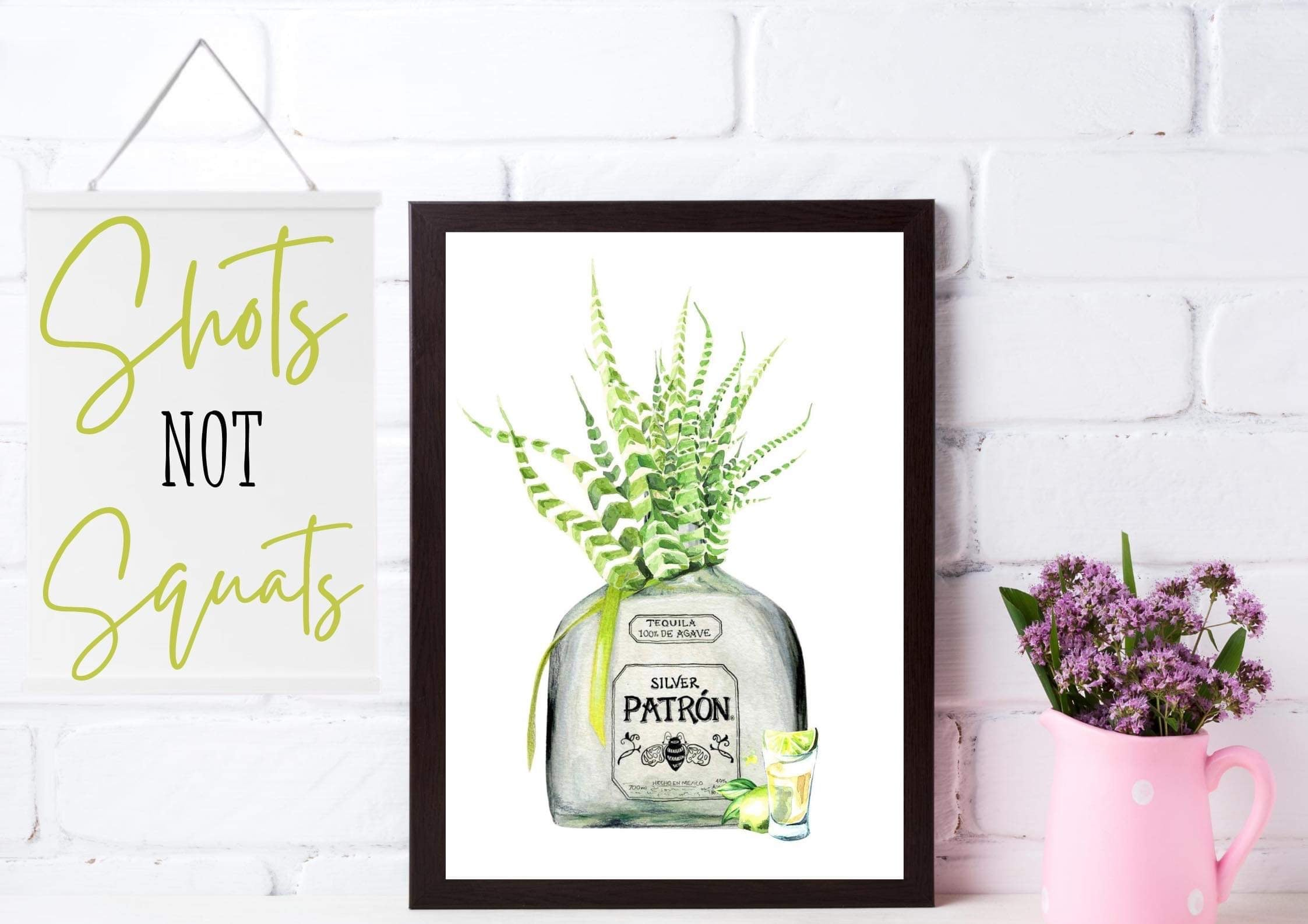 Happy Dais' Patron Tequila Framed Print