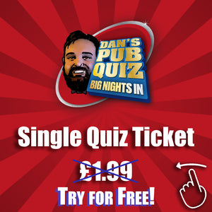 Quiz Ticket - Sat 15th August 2020 SINGLE