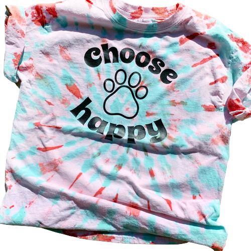 Choose Happy Tie Dye Tee