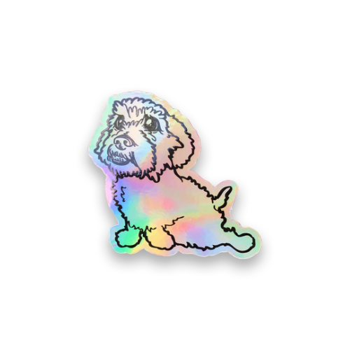 Holographic Happy Dash Decal