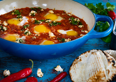 WJ Cooking List. SHAKSHUKA WITH MARINATED FETA CHEESE.