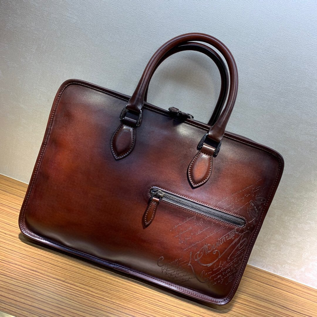 Handmade Men's Patina Style Genuine Leather Briefcase - Briefcase Deals