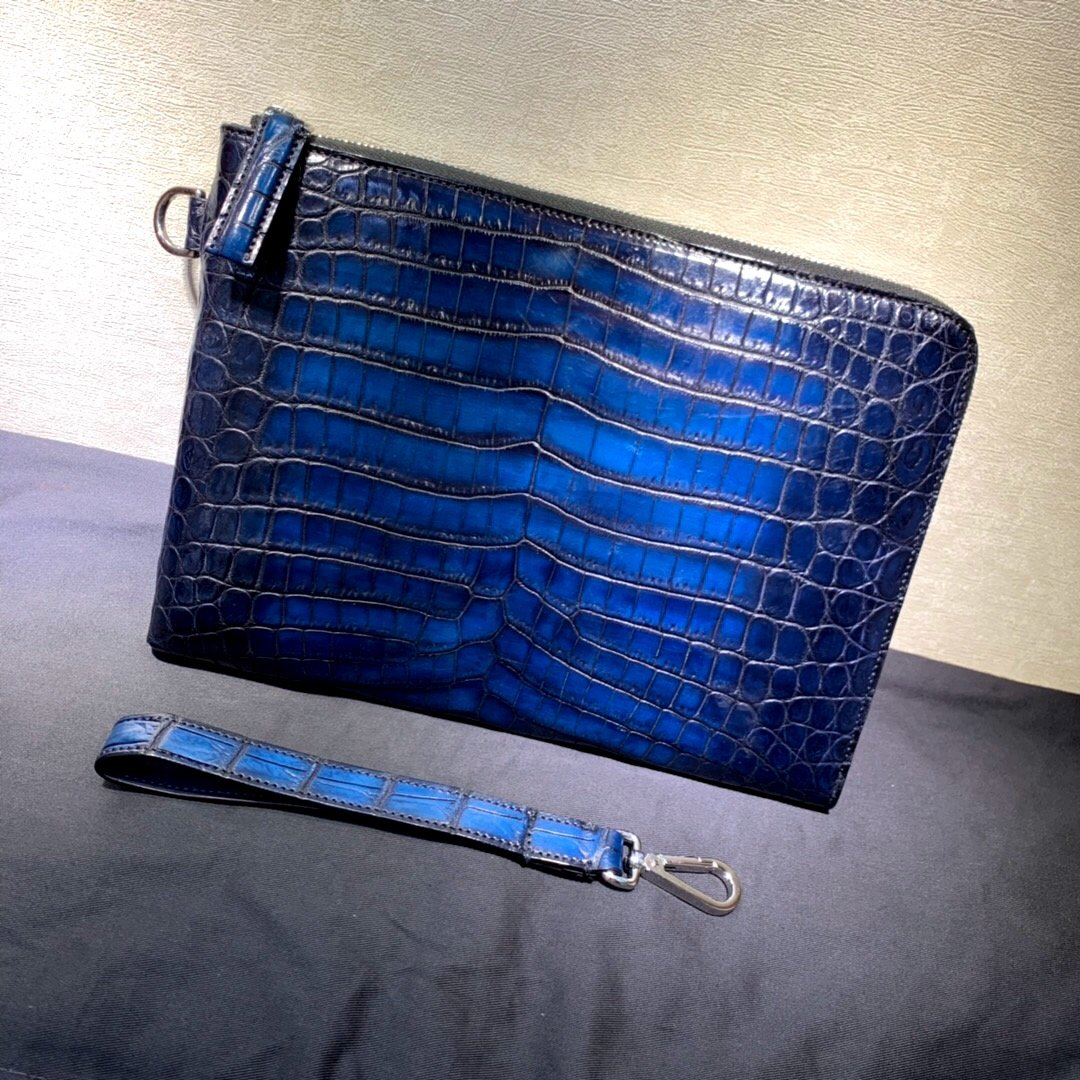 Handmade Nile Crocodile Genuine Leather Clutch Bag - Briefcase Deals